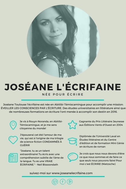 Joséane l'écrifaine - post Canva